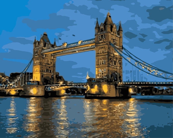 Landscape London Bridge Building Diy Paint By Numbers Kits Uk WM-573