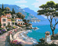 Town Mediterranean Sea Diy Paint By Numbers Kits Uk WM-597 ZXB673
