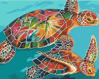 Turtle Diy Paint By Numbers Kits Uk WM-625
