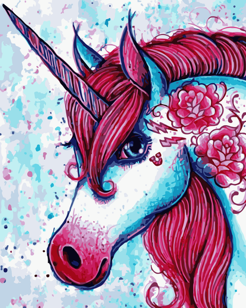Unicorn Diy Paint By Numbers Kits Uk WM-716
