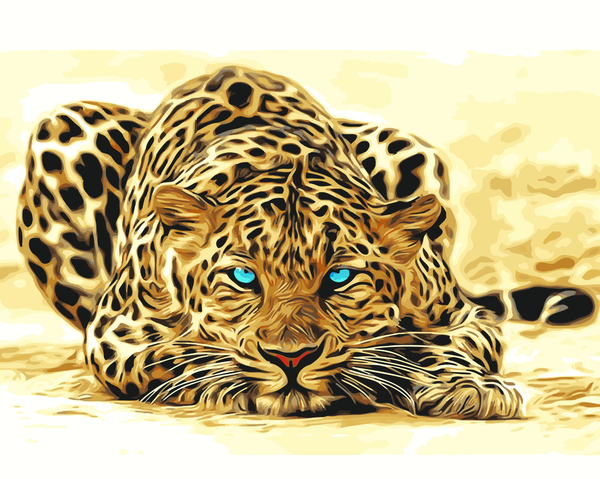 Leopard Diy Paint By Numbers Kits Uk WM-719
