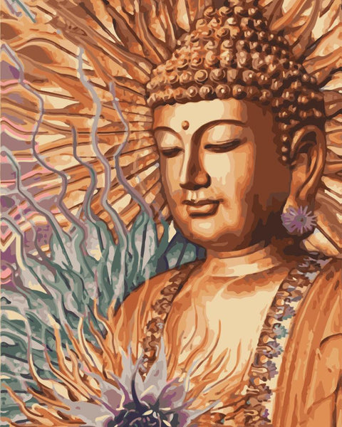 Buddha Diy Paint By Numbers Kits Uk WM-805