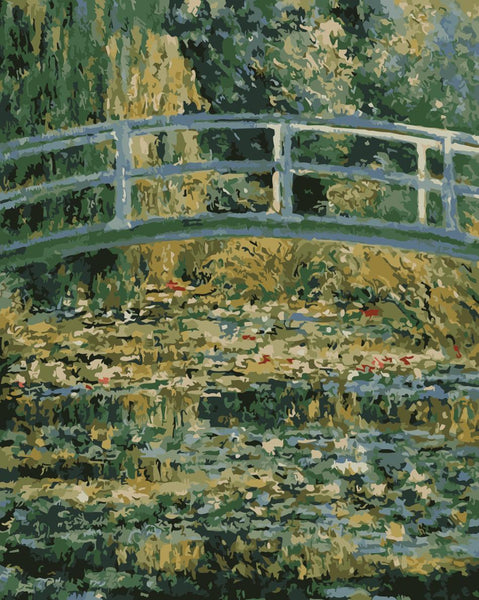 Claude Monet's Bridge Diy Paint By Numbers Kits Uk WM-872