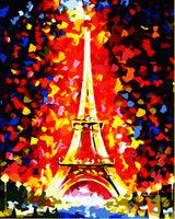 Landscape Eiffel Tower Diy Paint By Numbers Kits Uk GX097