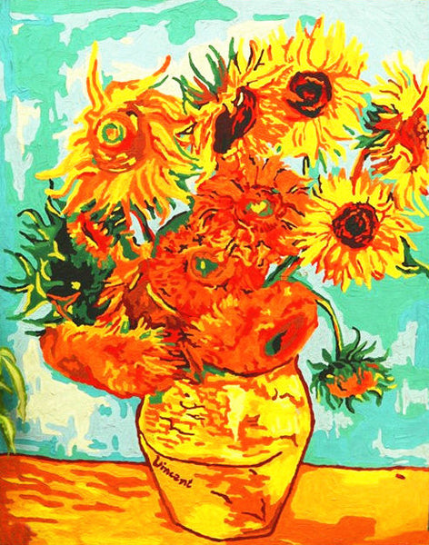 Van Gogh Sunflower Diy Paint By Numbers Kits Uk YM-4050-187