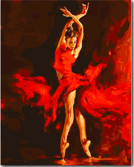 Dancer Diy Paint By Numbers Kits Uk YM-4050-127