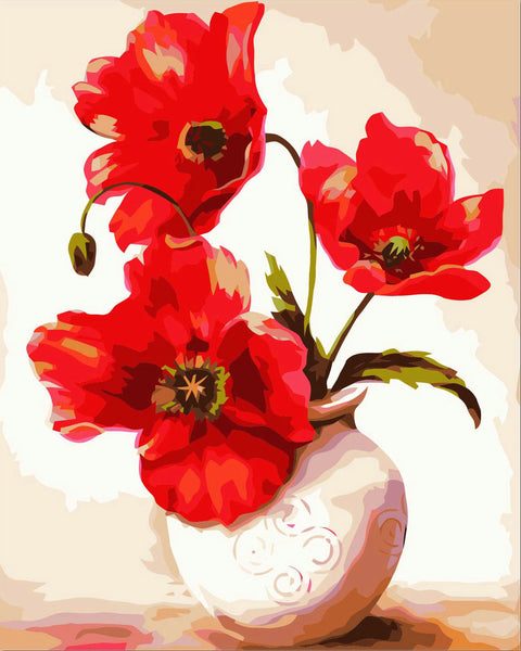 Flower Diy Paint By Numbers Kits Uk YM-4050-153 ZXZ-042