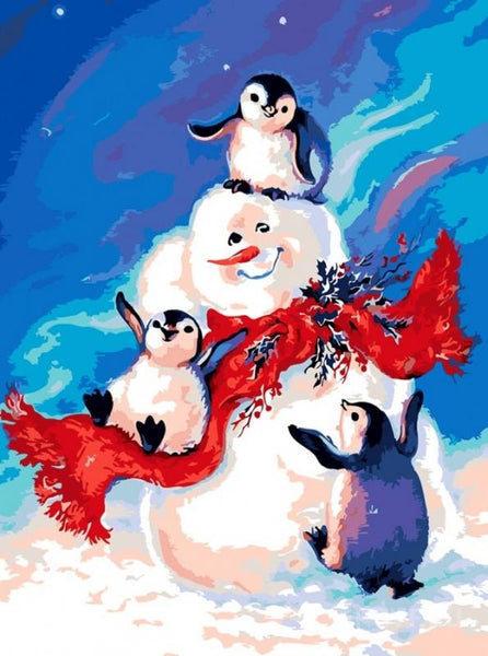 Penguin Diy Paint by Numbers Kits UK DIY PBN30121