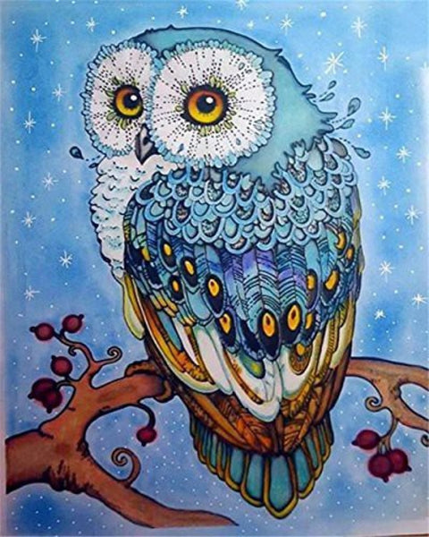 Owl Diy Paint By Numbers Kits Uk VM90151 ZXQ2407