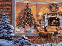 Christmas Diy Paint By Numbers Kits Uk VM90596