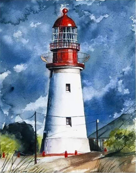 Landscape Lighthouse Paint By Numbers Kits Uk BN91320