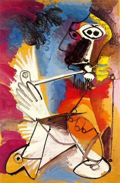 Pablo Picasso Smoker Diy Paint By Numbers Kits Uk VM92185