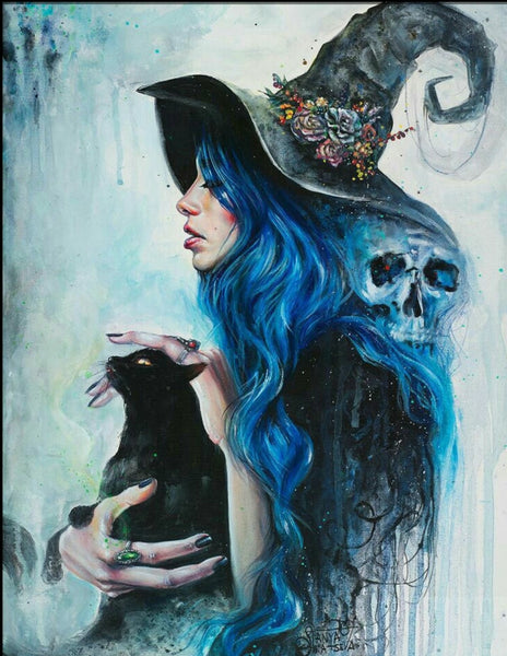 Skull Girl Diy Paint By Numbers Kits Uk VM92390