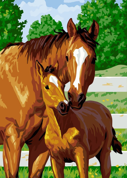 Horse Diy Paint By Numbers Kits Uk VM92636
