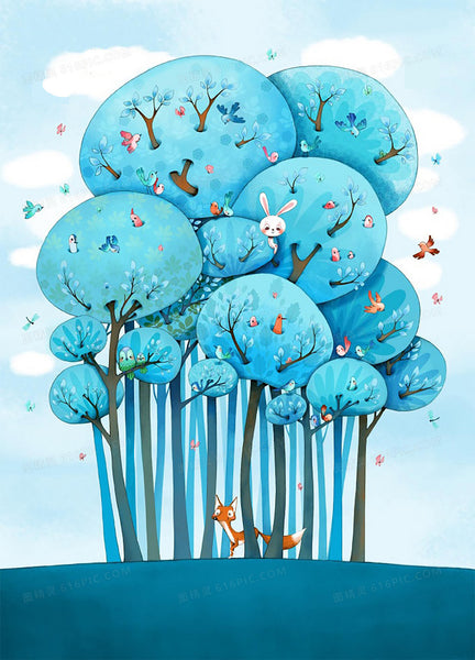 Cartoon Tree Diy Paint By Numbers Kits Uk PBN94187