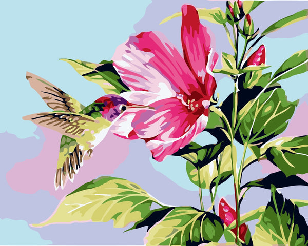Birds And Flower Diy Paint By Numbers Kits Uk VM95239
