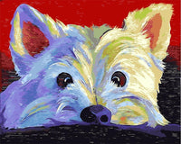 Lovely Dog Diy Paint By Numbers Kits UK VM95935