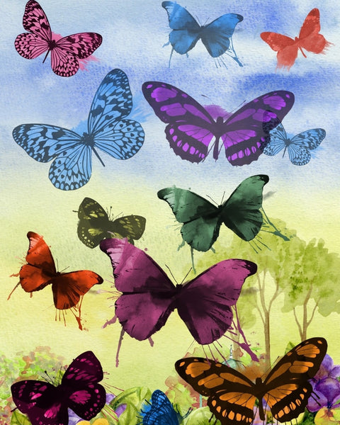 Butterfly Diy Paint By Numbers Kits Uk PBN93090