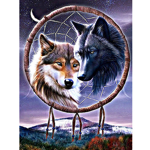 Animal Wolf Diy Paint By Numbers Kits Uk PBN91747