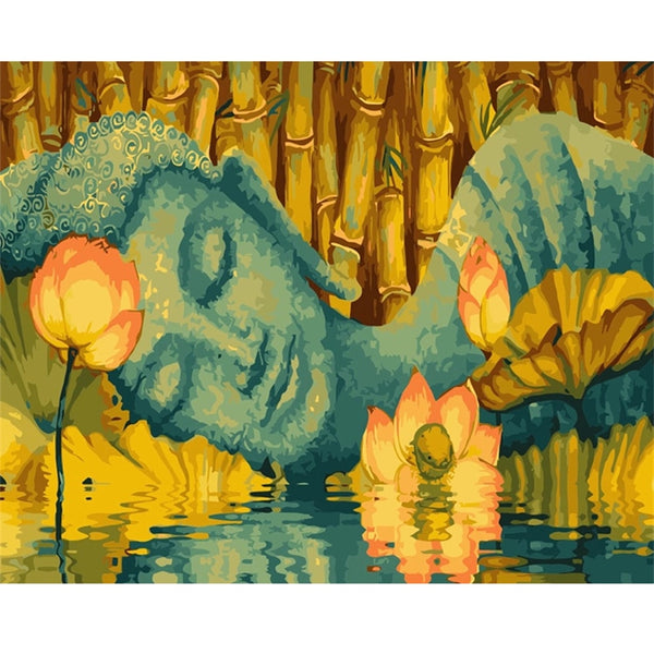 Buddha Diy Paint By Numbers Kits UK VM95399