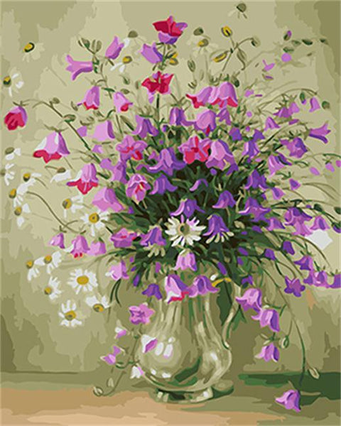 Flower Diy Paint By Numbers Kits UK VM95825