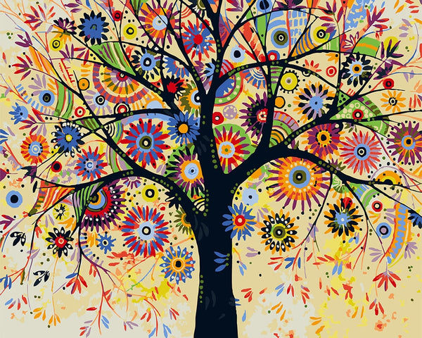 Tree Diy Paint By Numbers Kits UK VM94513