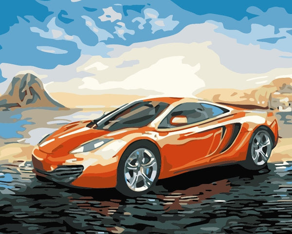 Sports Car Diy Paint By Numbers Kits UK PBN95922