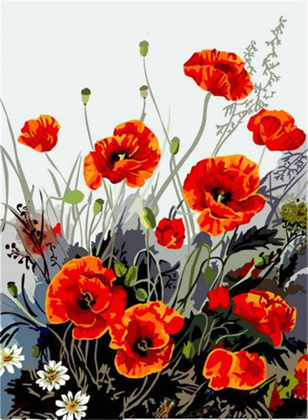 Flower Diy Paint By Numbers Kits UK PBN95812