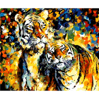 Tiger Diy Paint By Numbers Kits Uk VM92792