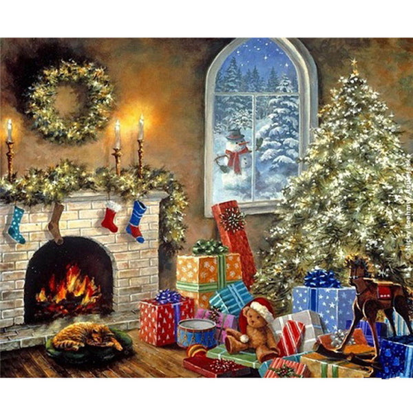 Christmas Diy Paint By Numbers Kits UK PH9501