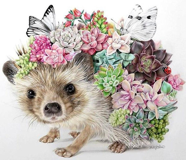 Hedgehog Diy Paint By Numbers Kits Uk VM90099