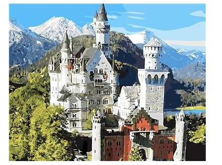 Neuschwanstein Castle Germany Diy Paint By Numbers Kits Uk ZXB267