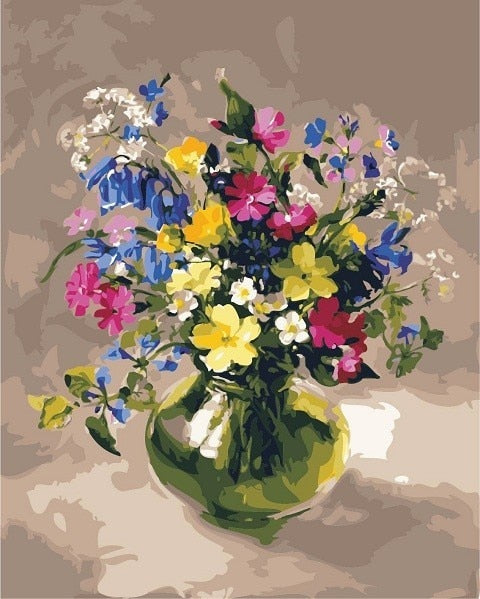 Flower In Bottle Diy Paint By Numbers Kits Uk VM90103