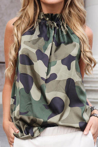 Inslace Camouflage Printed Tank Top (3 colors)