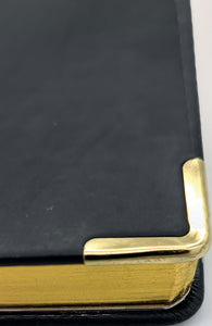 Professional 2021 A4 Diary Page A Day Planner Work PU Leather Cover Black & Gold
