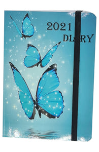 2021 Diary A6 Day a Page Student Teacher Office Pocket Calendar Desk Planner