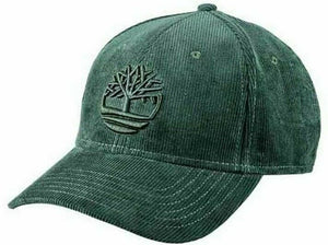 Timberland Mens Baseball Cap Corduroy One Size Green, Blue and Sable