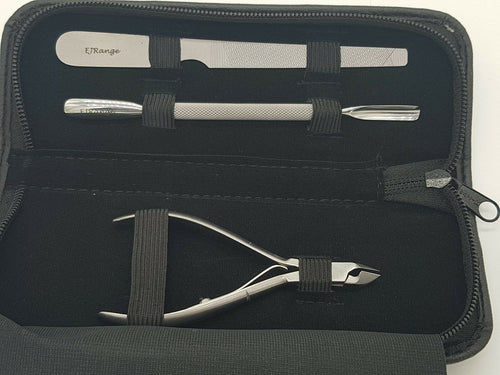 3 pc Cuticle Set with Case