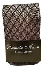 Load image into Gallery viewer, Women Ladies Black Fishnet Tights Burlesque Pantyhose One Size 8-14-Pamela Mann
