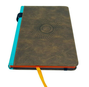 Notebook A5 Hardback PU Leather Journal Notepad, Pen Holder Ribbon Inner Pocket