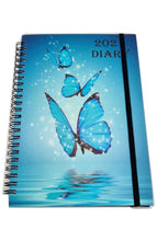 Load image into Gallery viewer, EJRange 2021 A5 Diary Week To View - Daily Planner Journal Notebook Spiral Bound Elastic Closure Ribbon Runs 28th Dec 20 till 2nd Jan 22