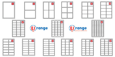 EJRange Address Labels White Self Adhesive A4 Sheets Sticky Peel Laser Inkjet Printer