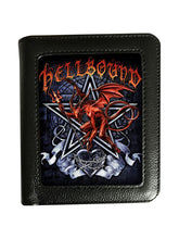 Load image into Gallery viewer, Lenticular Wallet,Tribal Dragon, Firebreather ,Fire Skull ,Reaper, Keep Smiling