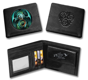 Lenticular Wallet,Tribal Dragon, Firebreather ,Fire Skull ,Reaper, Keep Smiling