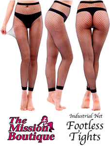Industrial Net Footless Tights
