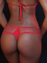 Load image into Gallery viewer, 2 Piece Fishnet Thong Set