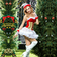 Load image into Gallery viewer, Red & Gold Christmas Dress Set