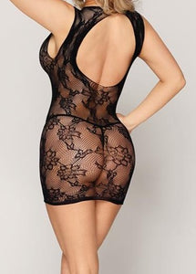 Rose Lace Mini Dress