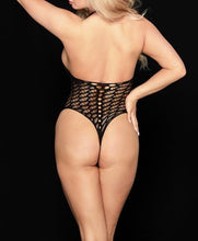 Load image into Gallery viewer, Fishnet Halter Bodysuit