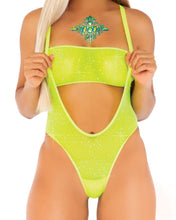Load image into Gallery viewer, Rhinestone Mesh Bandeau Bodysuit Set